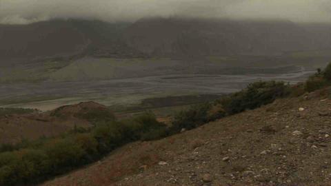 View Tilt Wakhan Valley Tajikistan & Afghanistan Footage
