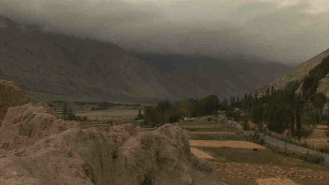 View Wakhan Valley Tajikistan Stock Video Footage