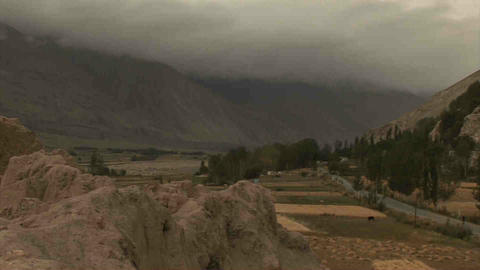 View Wakhan Valley Tajikistan stock footage