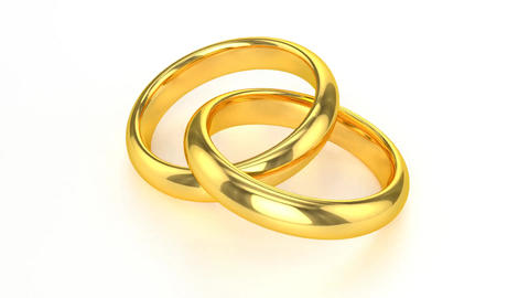 Realistic Golden Wedding Rings stock footage