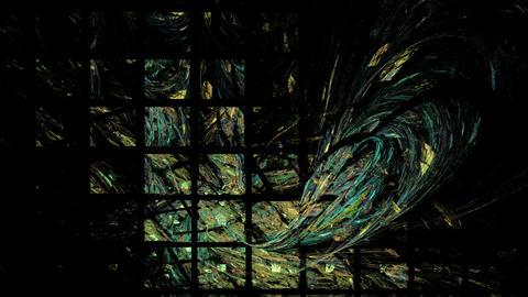 Green Black Lattice Background Stock Video Footage