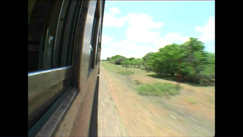 On the train Fisheye Landscape from train Zimbabwe Footage