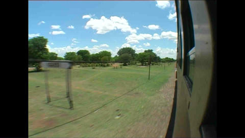 On the train Fisheye Landscape from train Zimbabwe Stock Video Footage