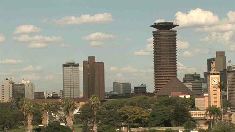Skyline Nairobi Stock Video Footage