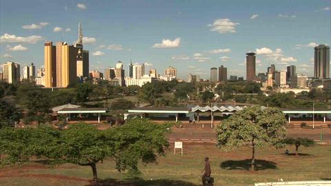 Buildings in Nairobi Stock Video Footage