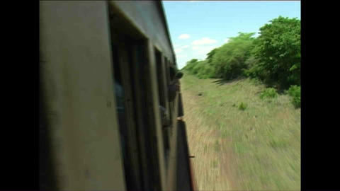 Train Kid watching Zimbabwe Stock Video Footage