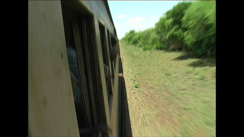 Train Kid watching Zimbabwe Footage