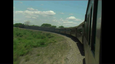 Train Long view Zimbabwe 2 Footage