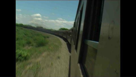 Train Long view Zimbabwe 2 Stock Video Footage