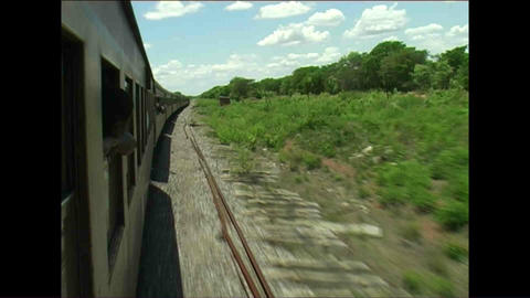 Train Long view Zimbabwe 4 Stock Video Footage