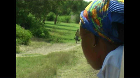 Train Woman watching Zimbabwe 2 Stock Video Footage