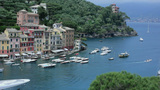 Portofino Port stock footage