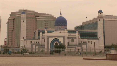 Atyrau Mosque Kazakhstan Stock Video Footage