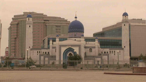Atyrau Mosque Kazakhstan stock footage