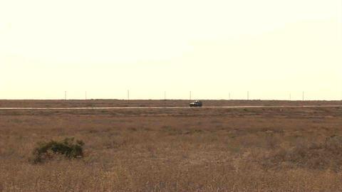 Car Panorama Road Kazakhstan Stock Video Footage