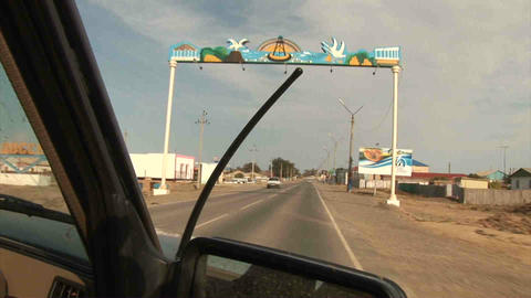Driving From Car Kazakhstan Stock Video Footage