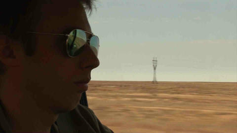 Guy Driving Landrover Sunglasses Kazakhstan Footage