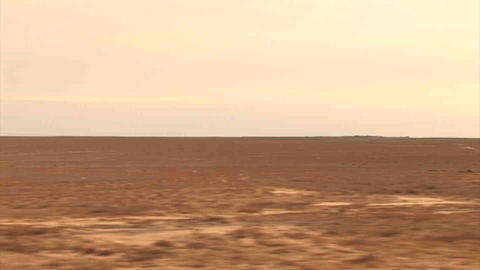 Steppe from Car Kazakhstan Stock Video Footage