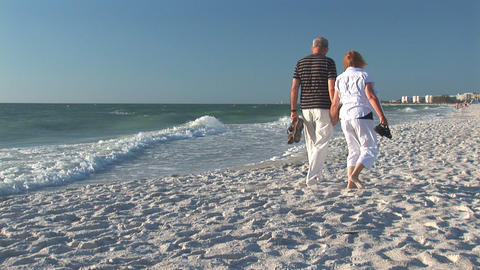 Couple On A Beach stock footage