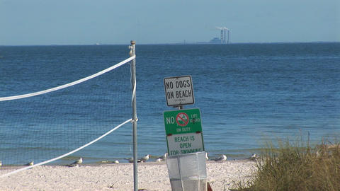Empty beach Stock Video Footage