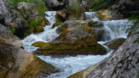 Waterfall, river, mountains, nature. Crimea Stock Video Footage