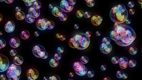 Soap Bubbles 2 - Joyful And Vivid Video Background Stock Video Footage