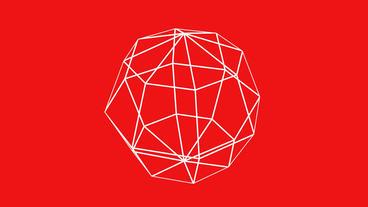 3d grid ball frame,tech web virtual background Animation