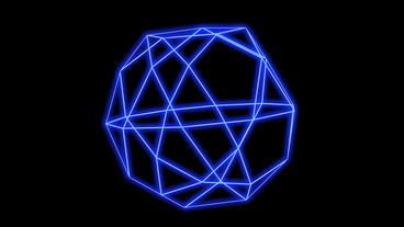 3d grid Multi-faceted body frame,tech web virtual background Animation