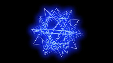 3d grid star body frame,tech web virtual background Stock Video Footage