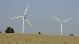 Wind turbines Stock Video Footage
