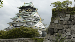 Osaka Castle stock footage