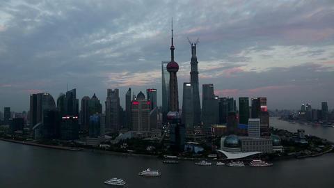 Shanghai skyline composition Stock Video Footage