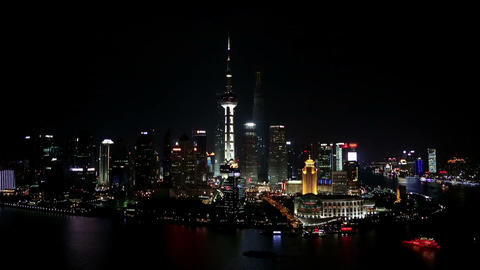 Shanghai skyline composition Stock Video Footage