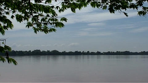 Don Khong uitzicht, view over river Footage