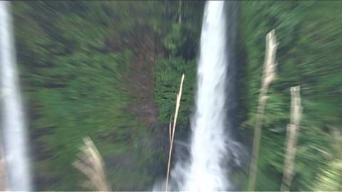 Boloven Plateau Tad Fane waterfall Footage