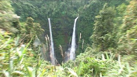 Boloven Plateau Tad Fane waterfall Stock Video Footage