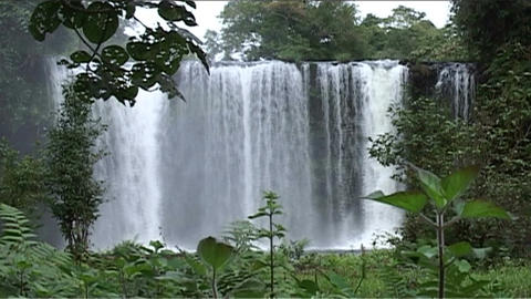 Boloven Plateau Tham Champy waterfall Stock Video Footage