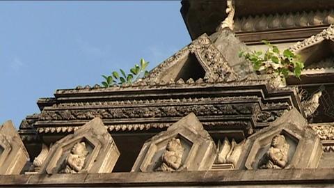 Vientiane Patuxai, tower Stock Video Footage