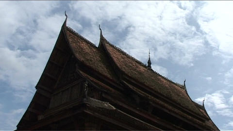 Wat Si Saket temple, roof Stock Video Footage
