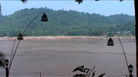 Luang Prabang, view over the Mekong Footage