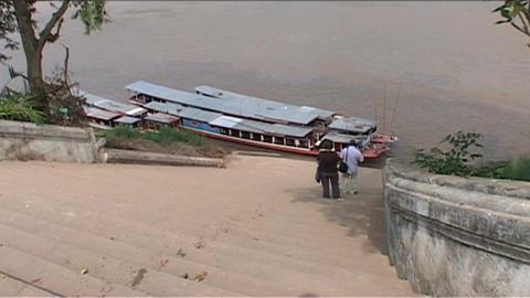 Luang Prabang, longboats Footage