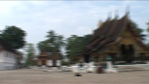 Luang Prabang Wat Xieng Thong temple Footage