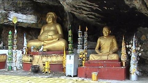 Mount Phu Si, buddhas Footage
