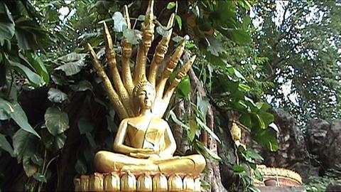 Mount Phu Si, buddha Stock Video Footage