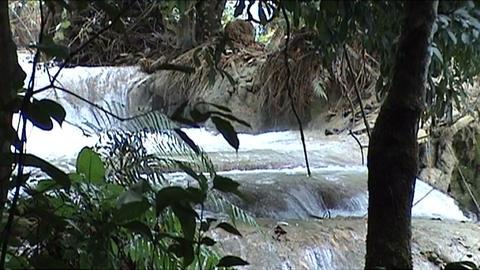 Luang Prabang, Kuang Si waterfall Footage