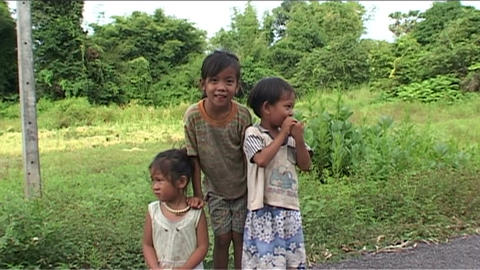 Children in front of camera Stock Video Footage