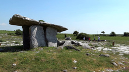Poulnabrone dolmen 3 Stock Video Footage