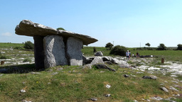 Poulnabrone dolmen 3 Stock Video Footage