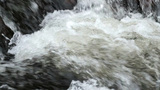 Churning River Water Slow Motion Close Up stock footage