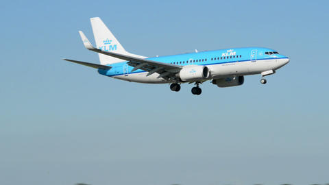KLM airplane landing air ground traffic 11010 Footage